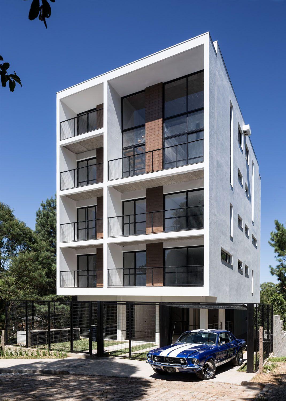 Edificio residencial quattro recomendados presentaci n for Fachadas edificios modernos