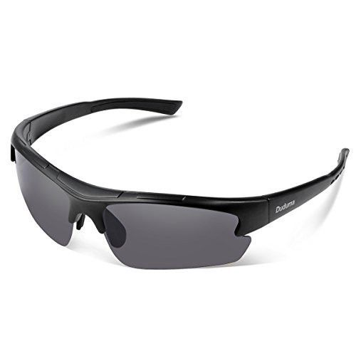 2ef92ec168d Duduma Polarized Designer Fashion Sports Sunglasses for Baseball Cycling  Fishing Golf Superlight Frame ((black matte frame with black lens)