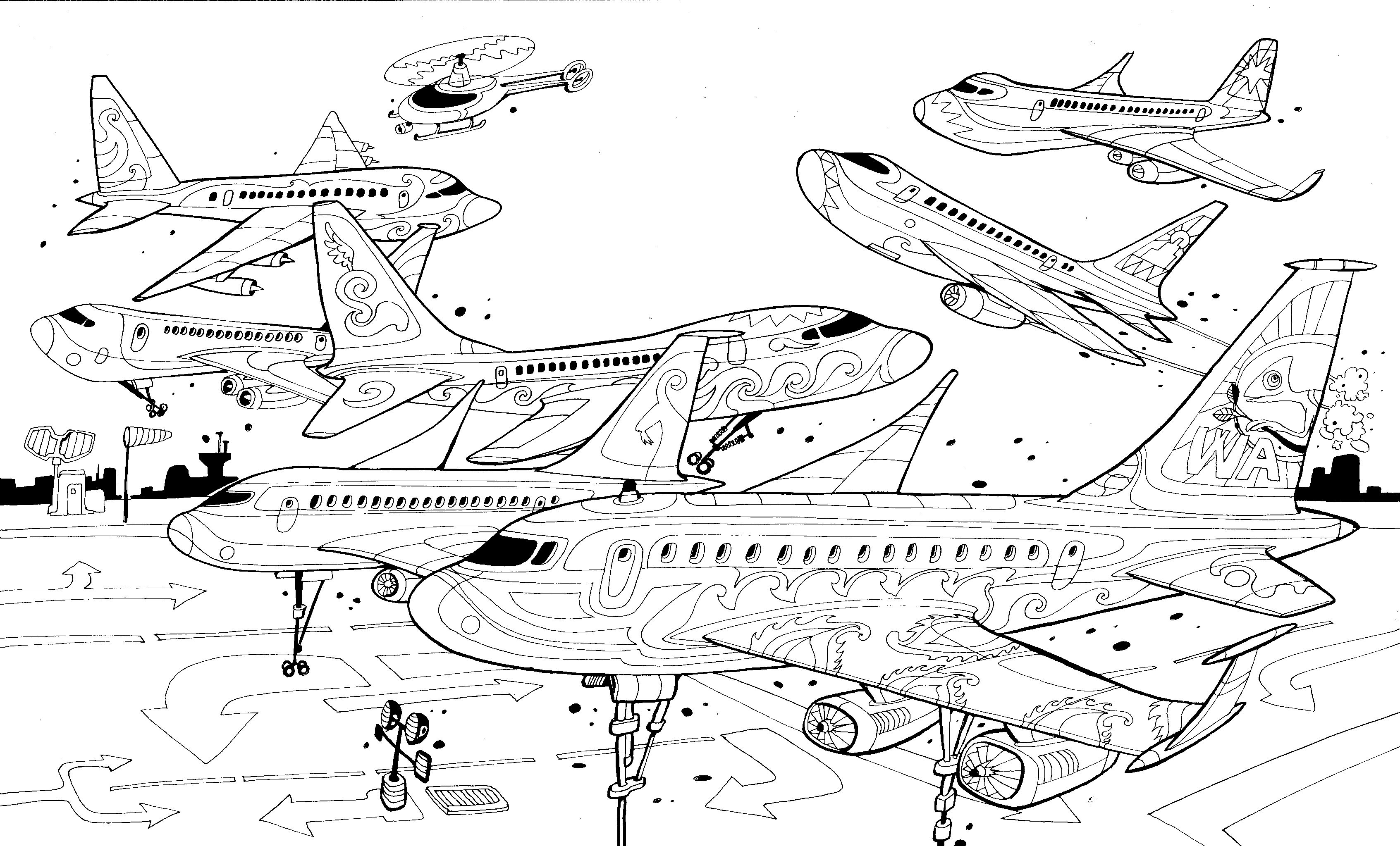 airport maps coloring pages | Pin by carlo stanga on The Wandering City | Illustrazioni