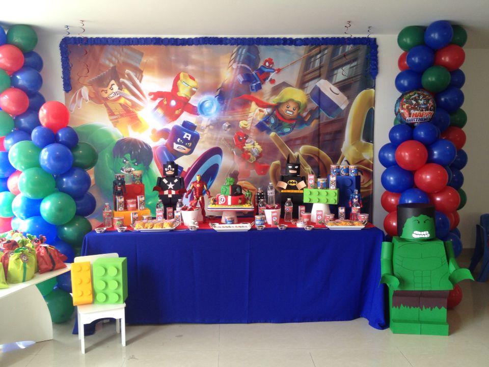 Market Place Decoración, fiesta lego avengers, fiesta