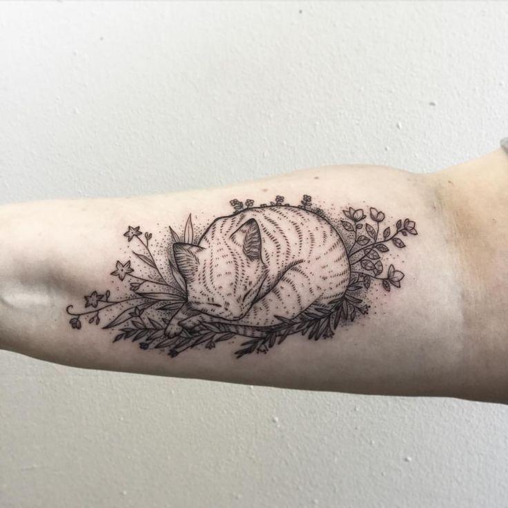 cat, cute, arm tattoo, tattoo for woman