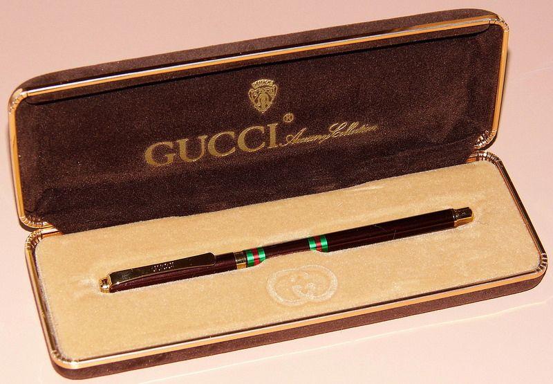 Vintage Gucci Ballpoint Pen Made In Italy Circa 1984