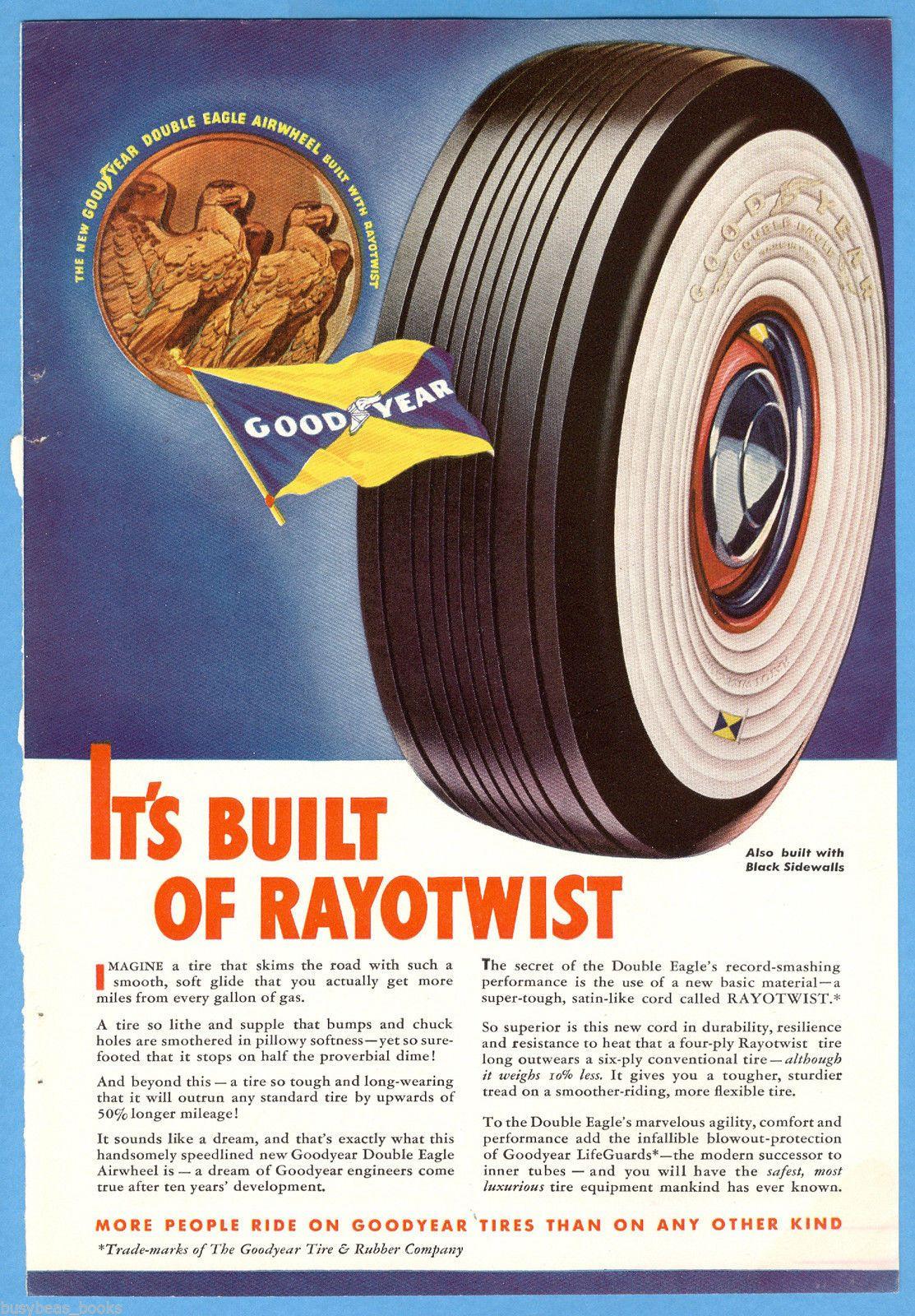 Détails 1938 GOODYEAR TIRE advertisement, Double Eagle