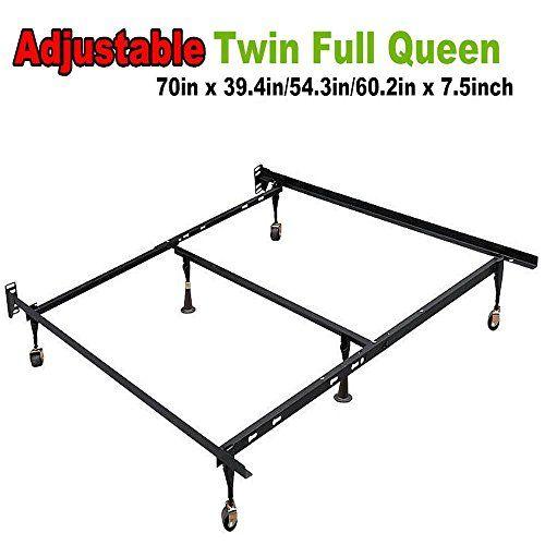 go2buy Adjustable Metal Platform Bed Frame for Twin Full Queen Size ...