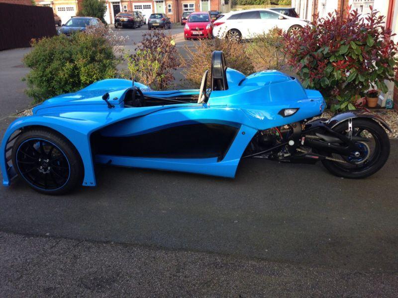 Kit Car Reverse Trike 3 Wheeler Morgan Gsxr 1000 Honda Enclosed