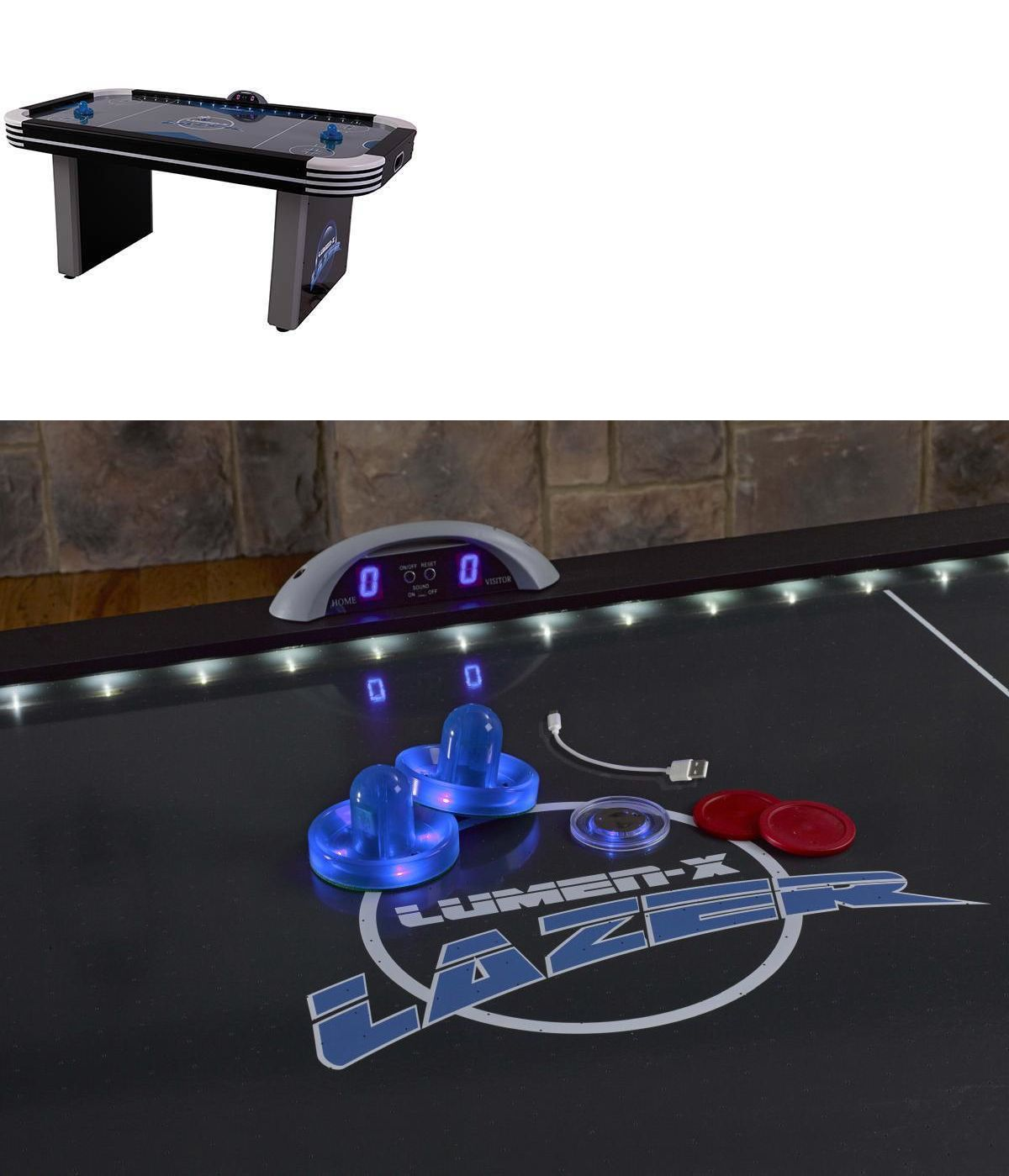 Air Hockey 36275: Triumph Lumen X Lazer Air Hockey Table + Accessories  U003e