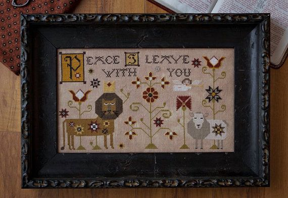 brand new cross stitch pattern viktor and irina from plum street samplers at thecottageneedle.com