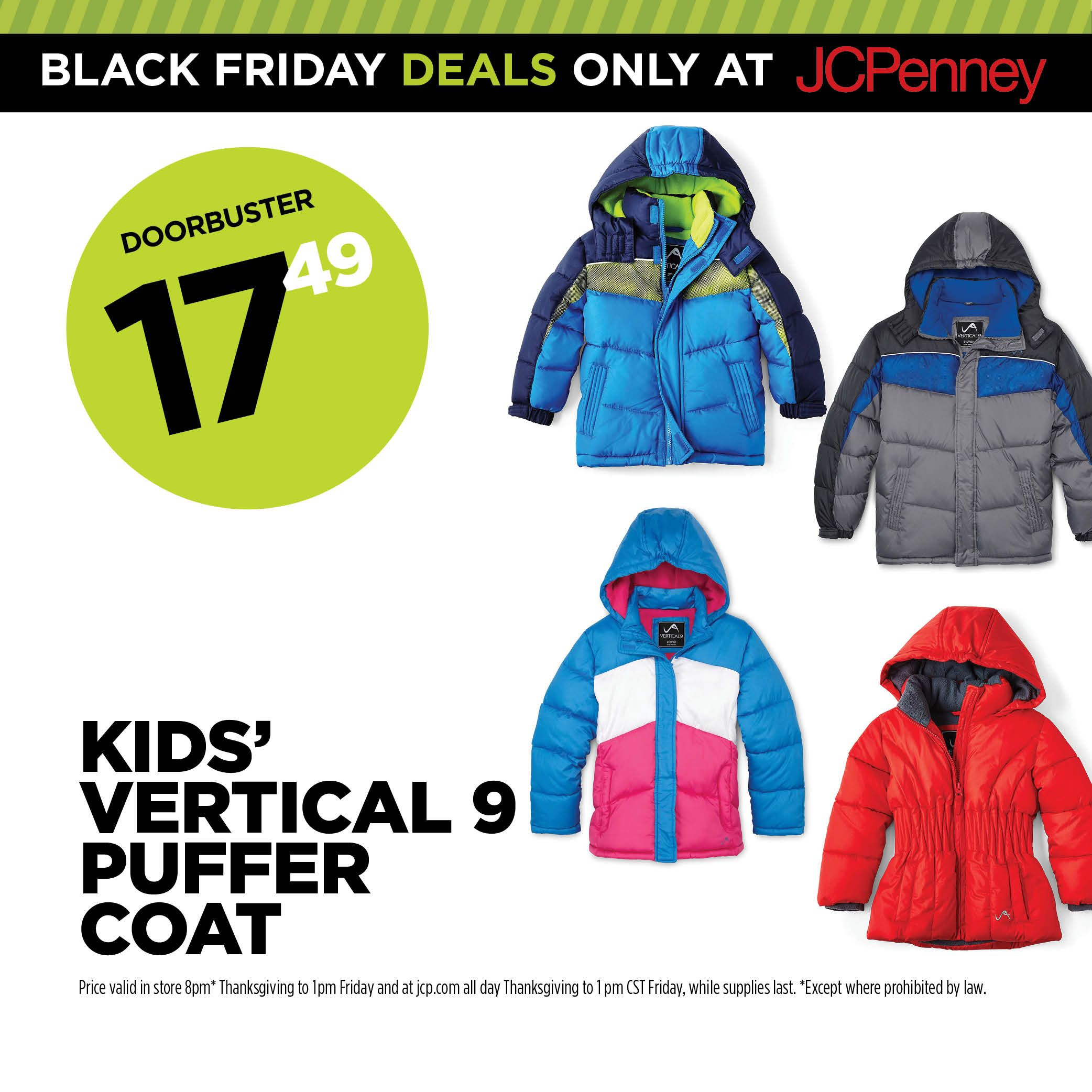 Jcpenney Black Friday Deal How About A Little Puff Love Vertical 9 Kids Puffer Coats Are 17 49 Jcpenney Black Friday Black Friday Deals Black Friday