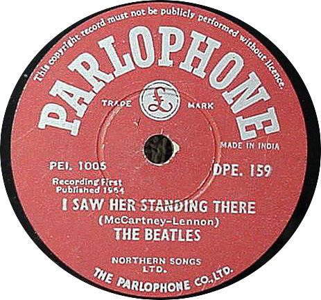 A Beatles 78 From The Uk I Saw Her Standing There Beatles Records Vinyl Records Vinyl Labels