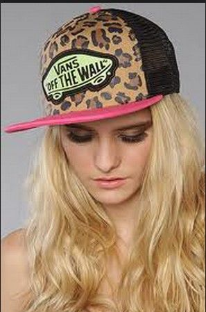 40a7a641b54 VANS Snapback Hats OFF THE Wall Leopard Mesh Hats 018 8292! Only  8.90USD