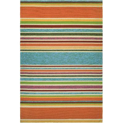 Couristan Covington Handmade Sherbet Stripe Multi Indoor/Outdoor Area Rug & Reviews | Wayfair
