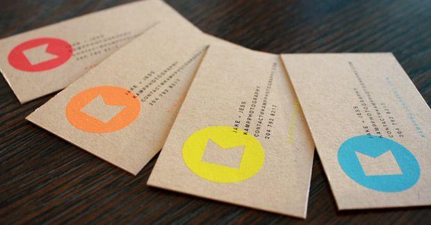 Kraft Paper Business Cards Kraft Business Cards Colorful Business Card Neon Business Cards