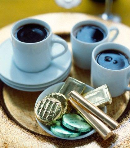 Prepara un rico café sabor menta