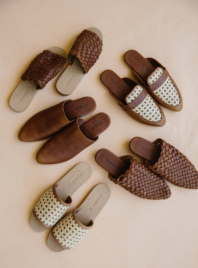 ST. AGNI produces soft handmade leather footwear & womens