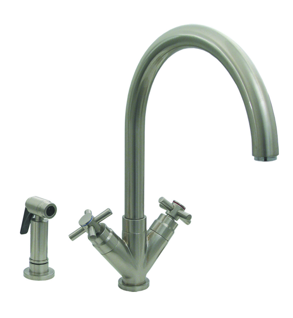 WhiteHaus 3-0394285 Luxe+ 10 1/4 Inch Kitchen Faucet w/ Side Spray ...
