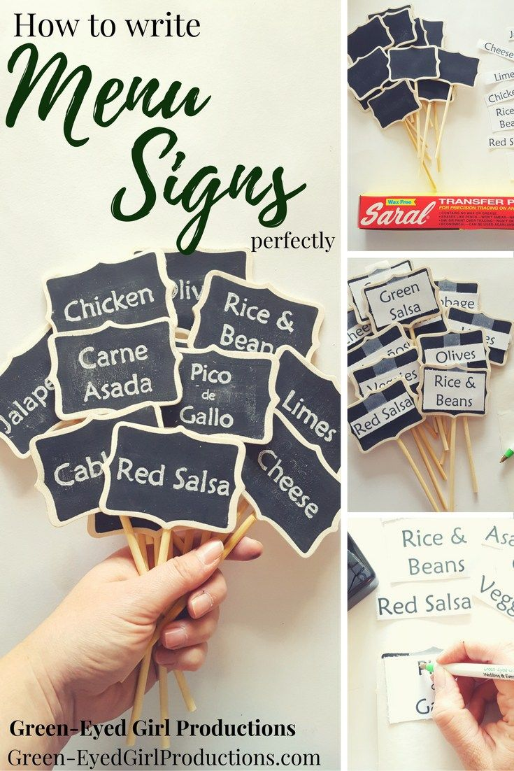 how to write menu signs perfectly mommy blogger top picks rh pinterest com  printable buffet food signs