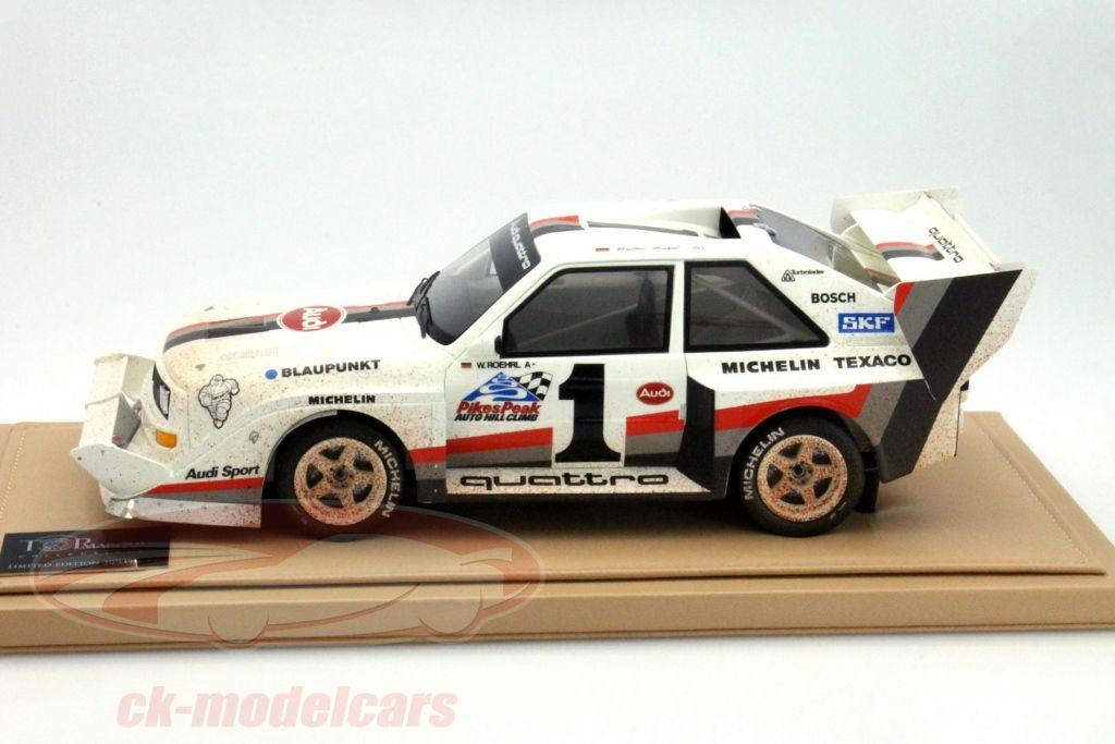CK-Modelcars - CK002: W. Röhrl Audi quattro S1 #1 Winner Pikes Peak 1987 Dirty Version 1:18 TopMarques