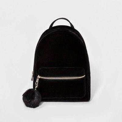 b9d0fec208 Women s Velvet Backpack Handbags - Mossimo™ Black   Target ...