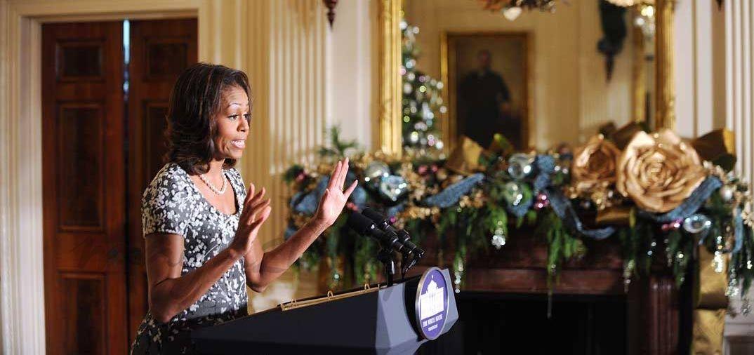 Michelle Obama inagura la Navidad en la Casa Blanca