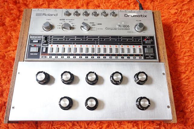 matrixsynth modified roland tr 606 vintage analog drum machi new synths drum machine. Black Bedroom Furniture Sets. Home Design Ideas