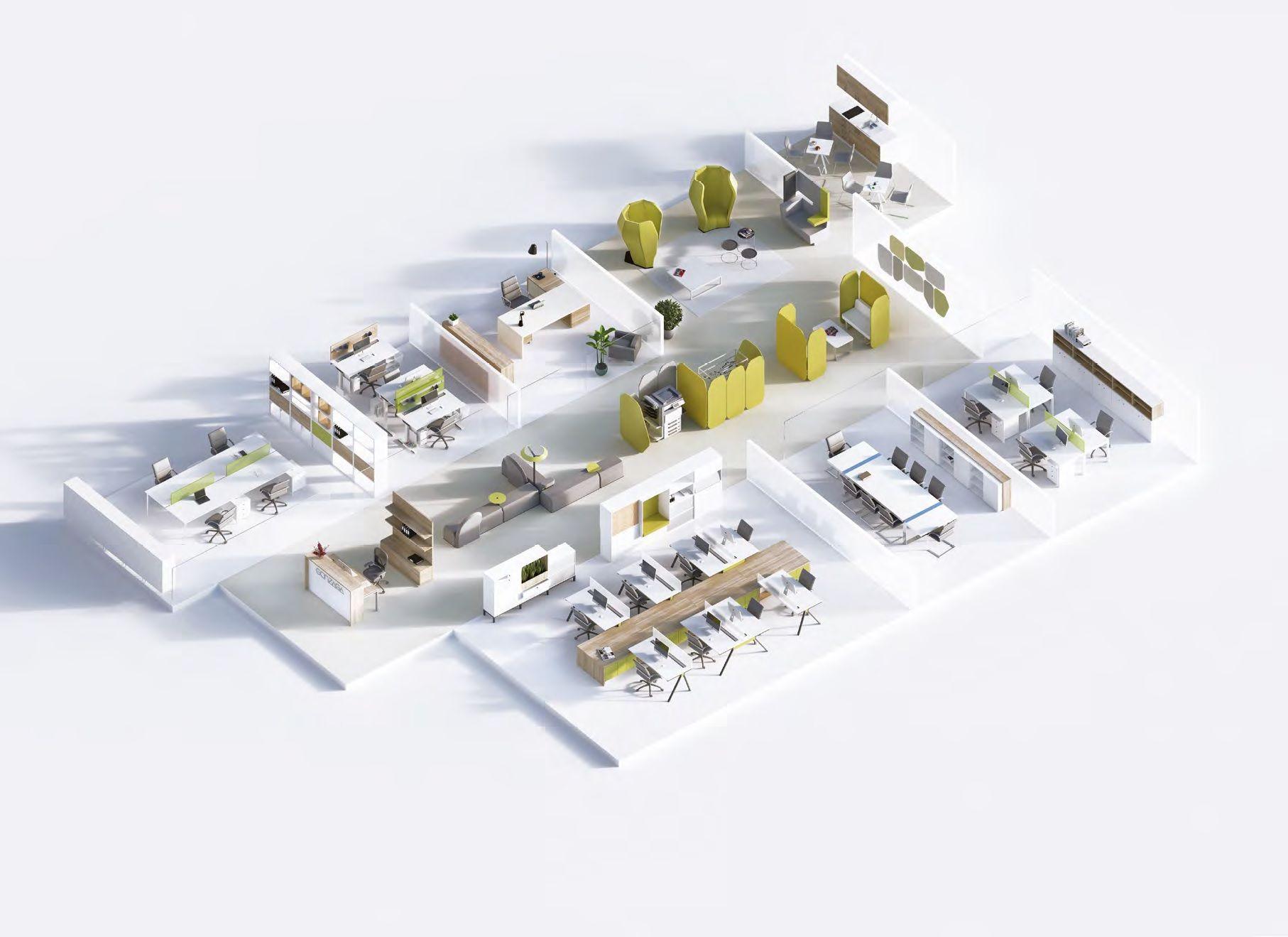 Büromöbel für Grossraum Augsburg | Grossraumbüros | Pinterest | Augsburg