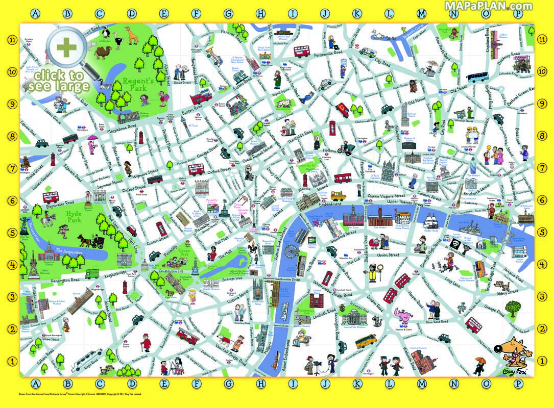 London top tourist attractions map Things to do with kids children
