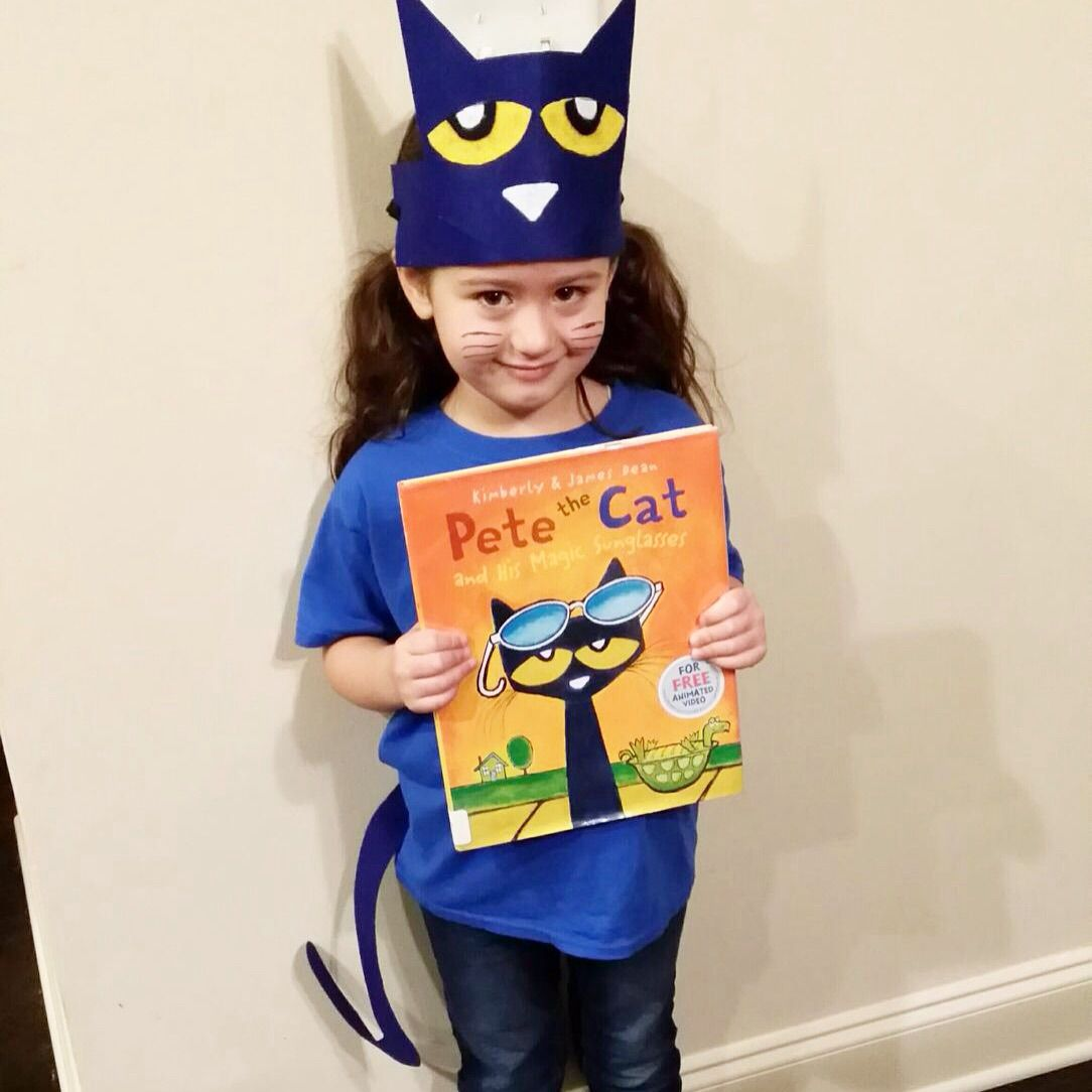 119fe42e803 Pete the Cat DIY Costume for Book Character Day.