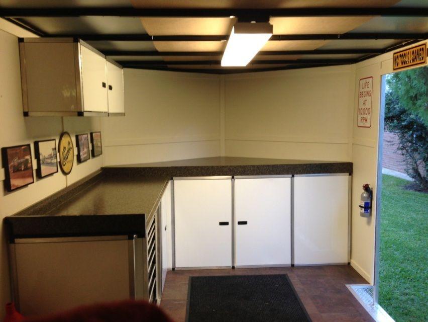 V Nose Enclosed Trailer Cabinets | Avie Home | Home ...