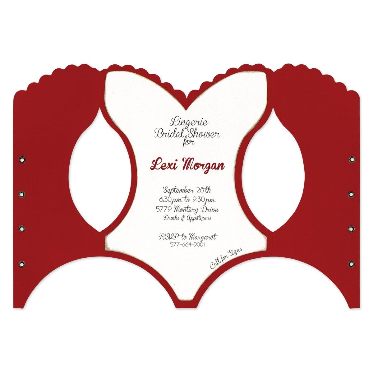 Make Fun Invitations For Bridal Showers And Bachelorette Parties With This Unique Corset Shaped Coordinates A7 Card Mats Nc153sj