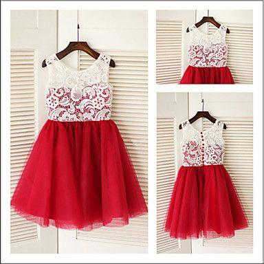 Vestido de niña de las flores Corte A -
