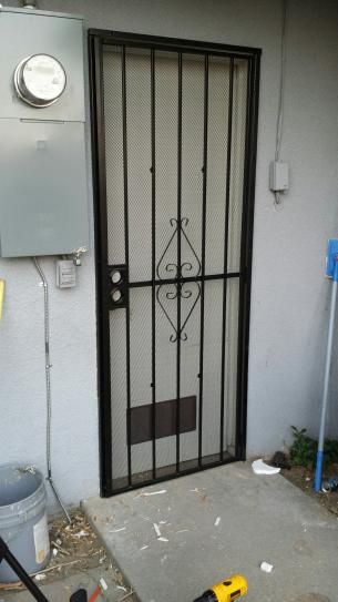 Mobile Security Door Steel Security Doors Window Security Bars