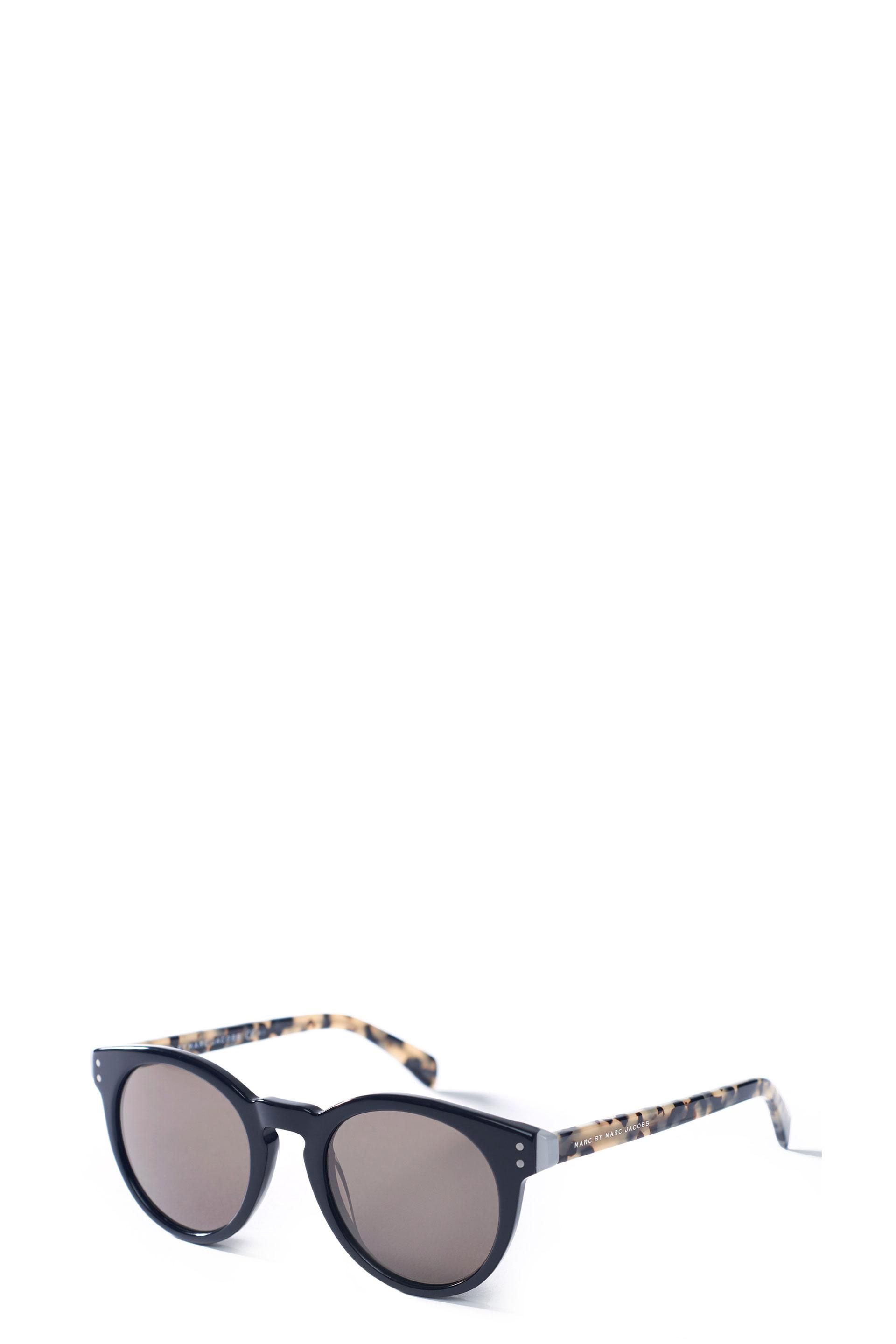 ae2bb5031cac The Marc Jacobs Two Dot Sunglasses feature acetate front and temples with  color-assembled acetates