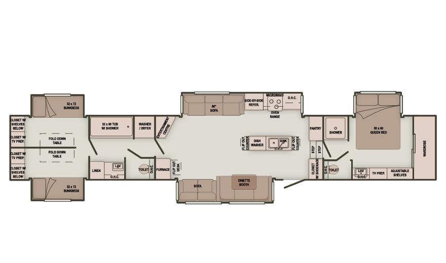 2 Bedroom Fifth Wheel Floor Plans Travel Trailer Floor Plans Rv Floor Plans Fifth Wheel Campers