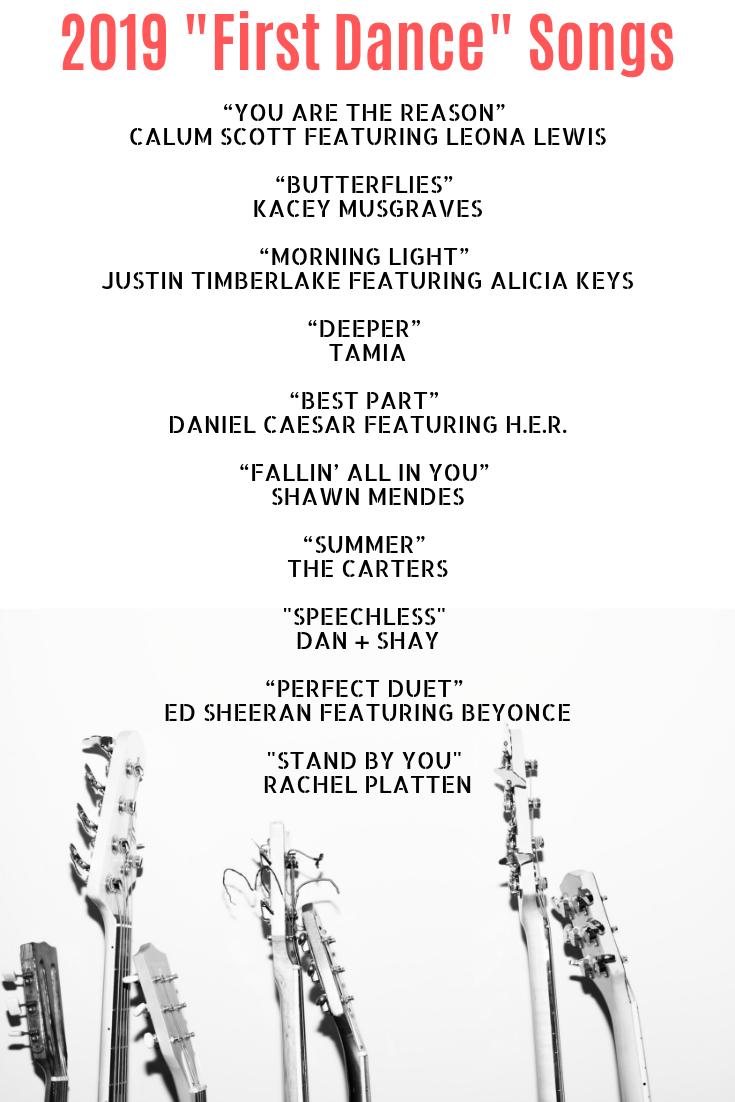 2019 First Dance Wedding Songs First Dance Wedding Songs Best Wedding Songs Wedding Song List