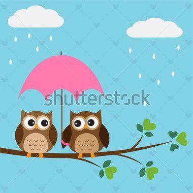 dibujo pareja de buhos  Buscar con Google  lindos  Pinterest