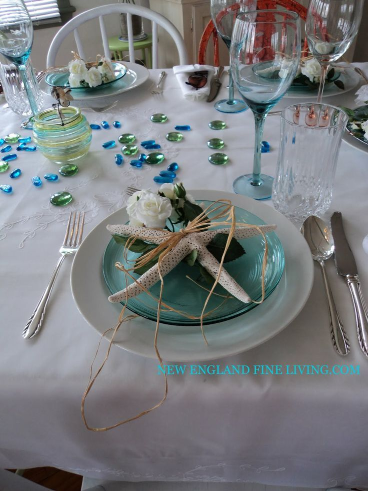 Summer Beach Wedding Decor Table Decoration On The Deborah Marion
