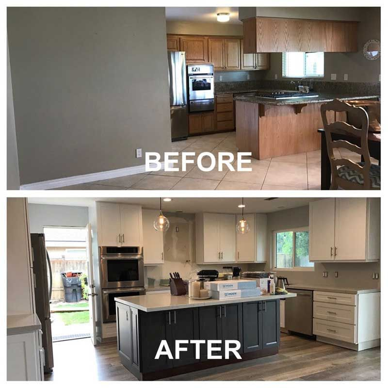Kitchen Remodeling Before And After Remodel Small Design Projects