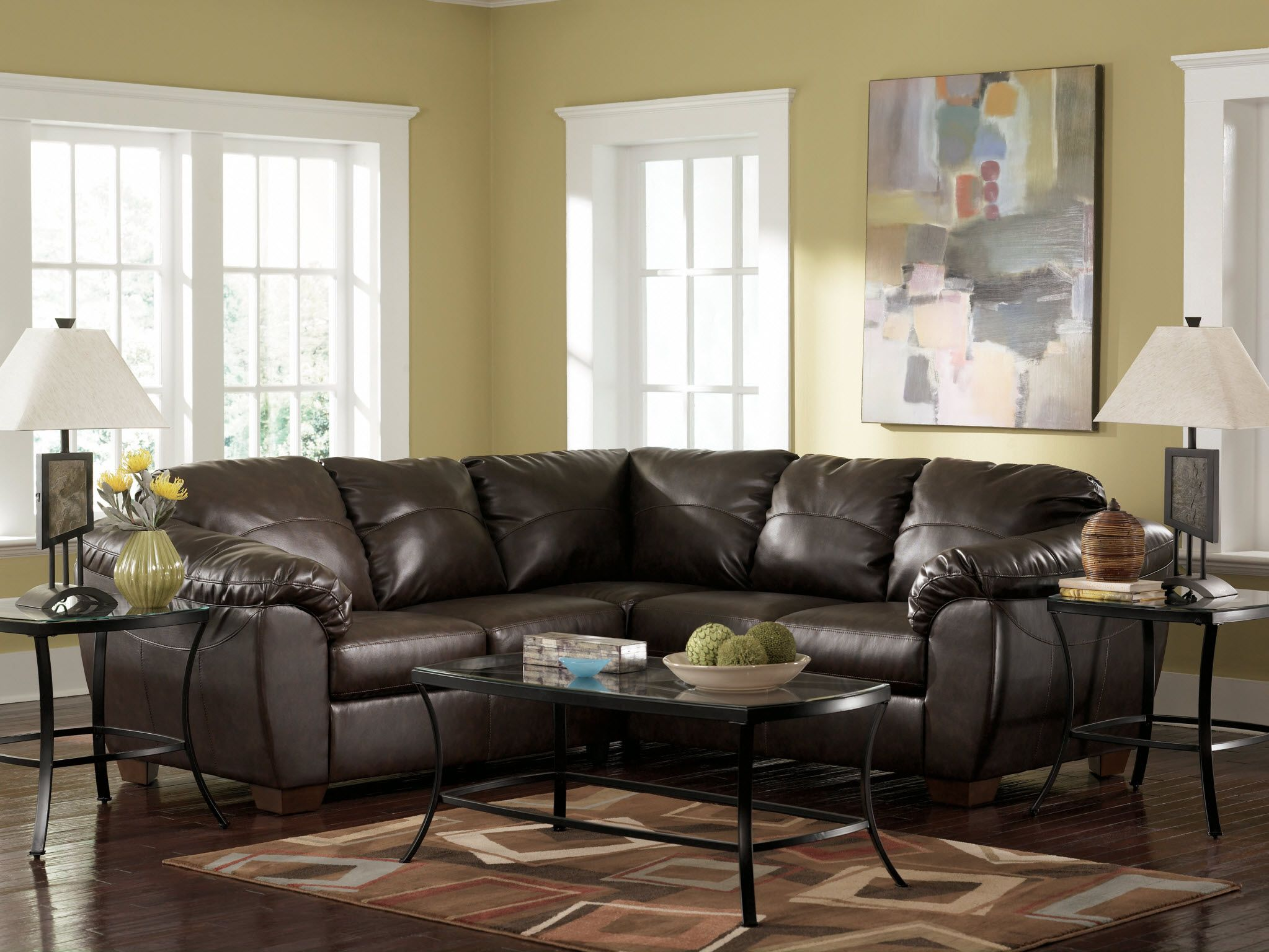 Durablend Sectional Sofa and Love Seat by Ashley Furniture