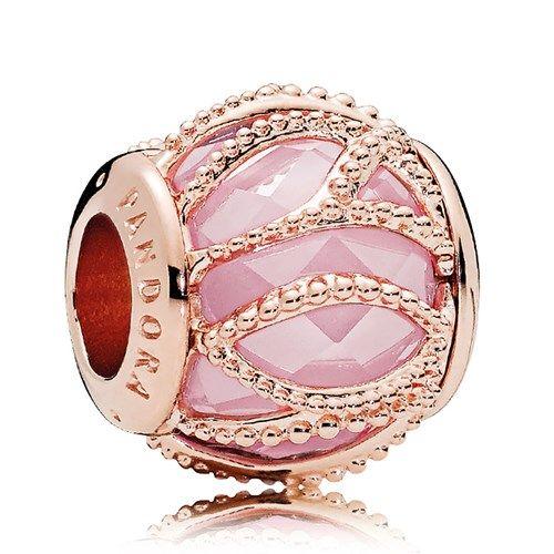 PANDORA Rose Gold Pink CZ Intertwining Radiance Charm | Pandora ...