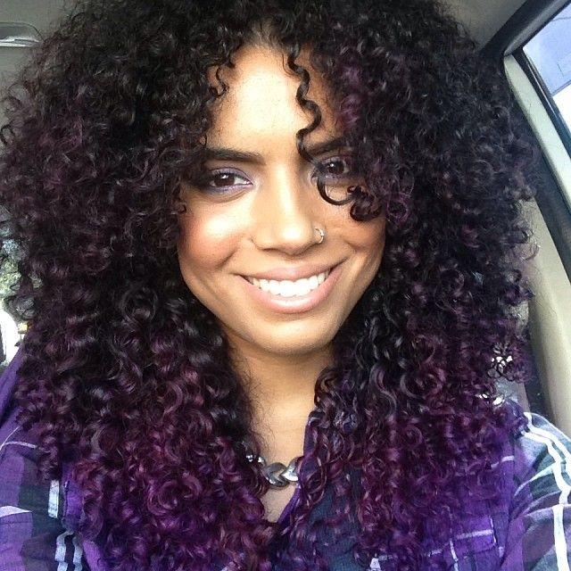 purple in hair styles best 25 curly purple hair ideas on dyed curly 1948