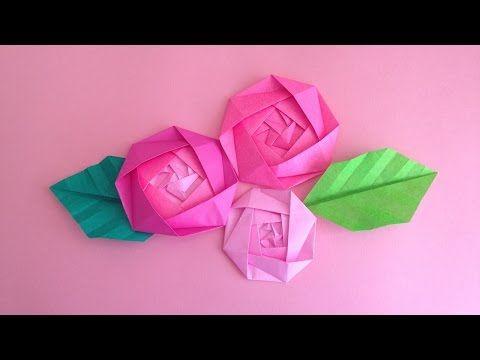 origami rose youtube origami flowers origami rose youtube mightylinksfo