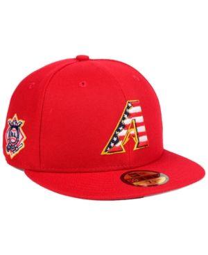 1035000ed6a New Era Boys  Arizona Diamondbacks Stars and Stripes 59FIFTY Fitted Cap -  Red 6 3 8