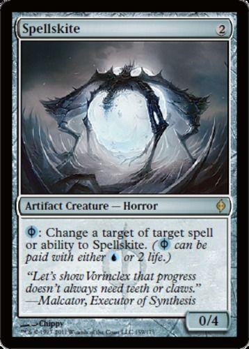 Spellskite mtg Magic the Gathering New Phyrexia rare artifact creature card