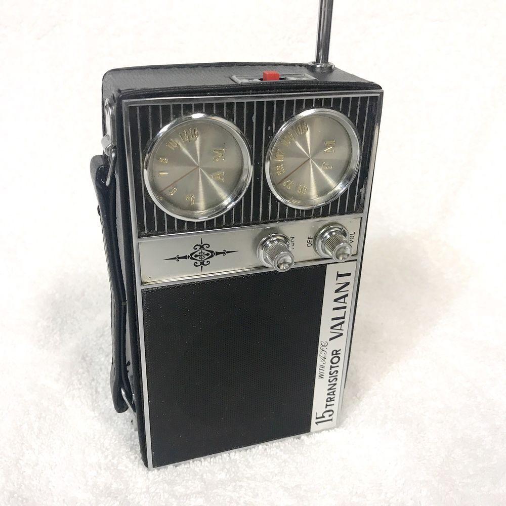 Vintage Transistor Radio Valiant 15 Transistor With A F C Am Fm