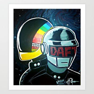 Daft Punk Art Print by Alexis Pilato - $20.80