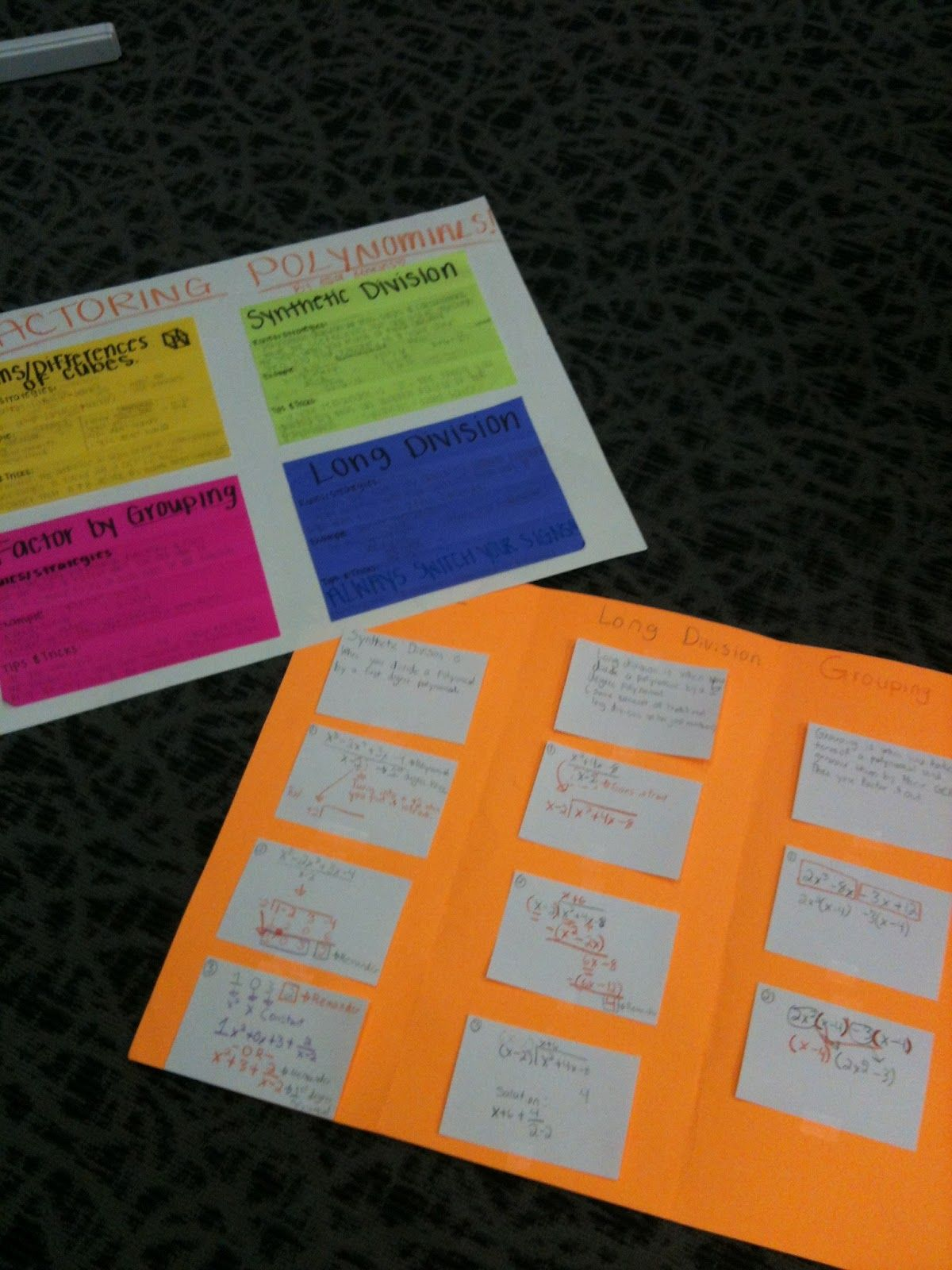 Factoring Polynomials Foldable Project