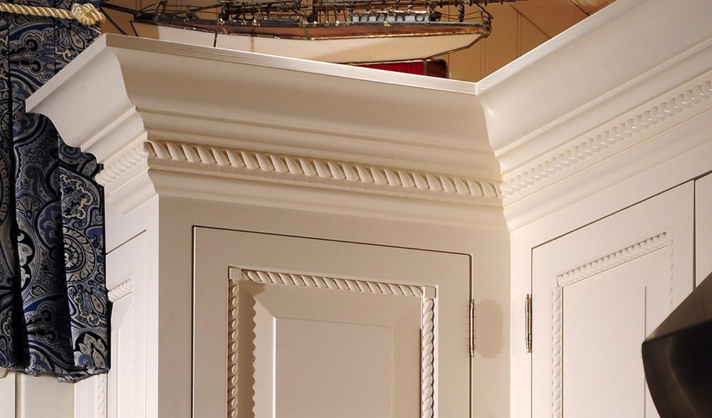 Cabinet And Molding Enhancements Love The Rope Molding Like My Living Room Kitchens