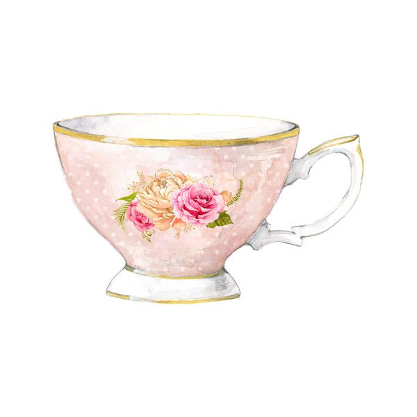 Tea Party 6 Png Liked On Polyvore Featuring Watercolor Tea Cup Drawing Watercolor Teacup Tea Cup Art