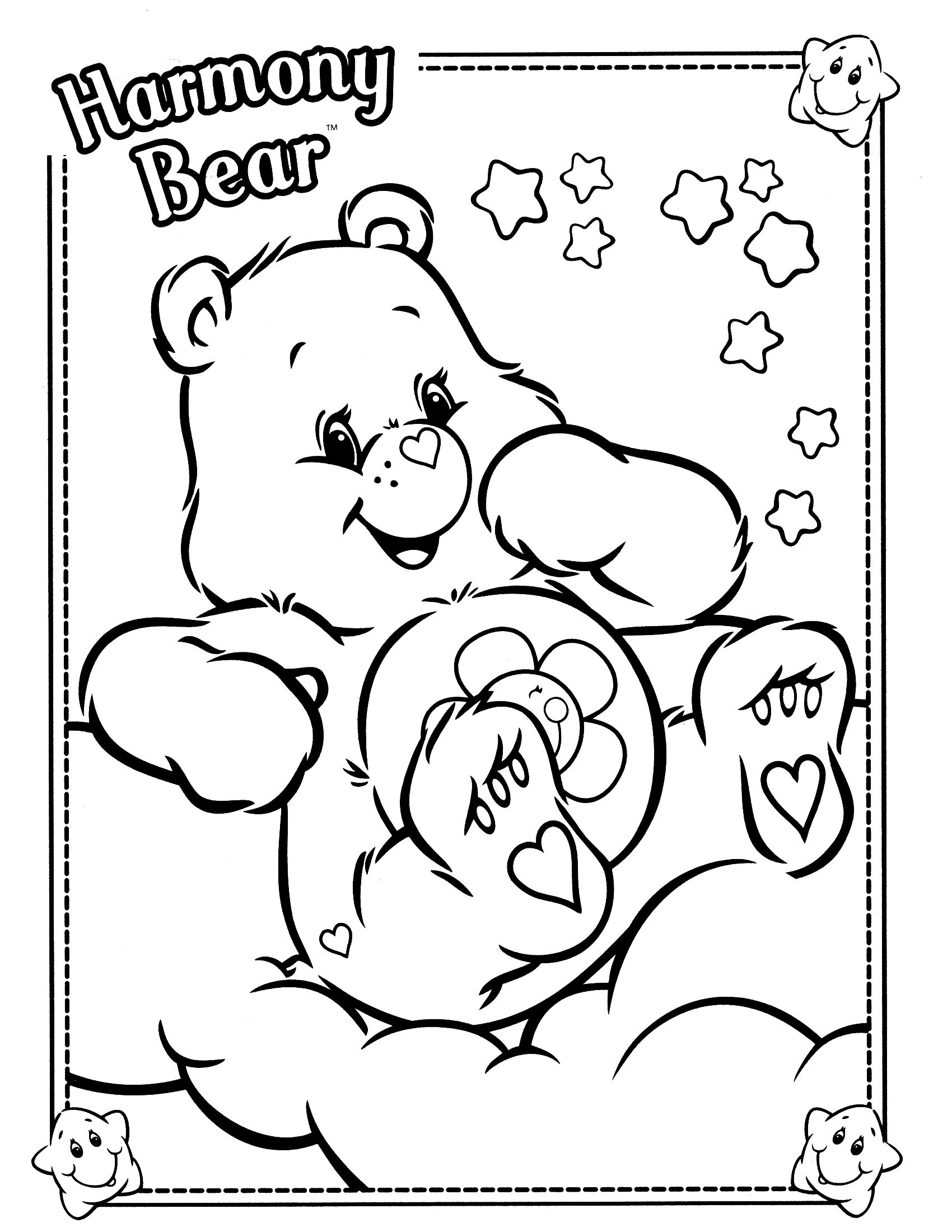 Care Bears Coloring Page Bear Coloring Pages Cute Coloring