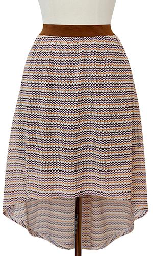 Chevron Bric Brac Skirt